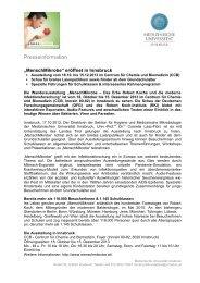 Presseinformation zum Download (.pdf) - Medizinische Universität ...