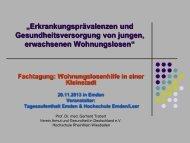 Prof. Dr. med., Dipl. Soz.Päd. Gerhard Trabert - Hochschule Emden ...