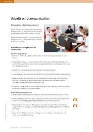 Arbeitsschutzorganisation Bei der Planung von Arbeitsverfahren ...