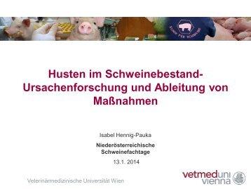 Schweinefachtag 2014 Vortrag Dr. Hennig-Pauka Vetmed