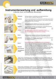 Instrumentenwartung und -aufbereitung - Roos Dental