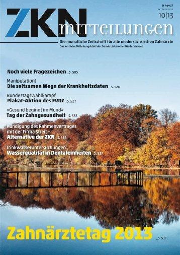Zahnärztetag 2013 - Zahnärztekammer Niedersachsen