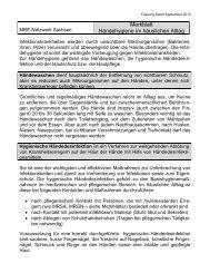 Merkblatt Händehygiene - Gesunde Sachsen