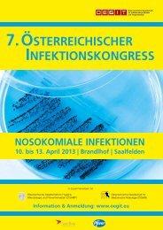 7. österreichischer infektionskongress - Medizinische Universität ...