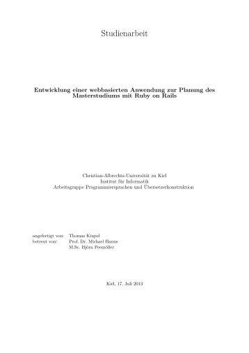 Entwicklung einer webbasierten Anwendung zur Planung des ...