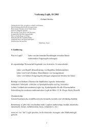 Vorlesung Logik, SS 2003