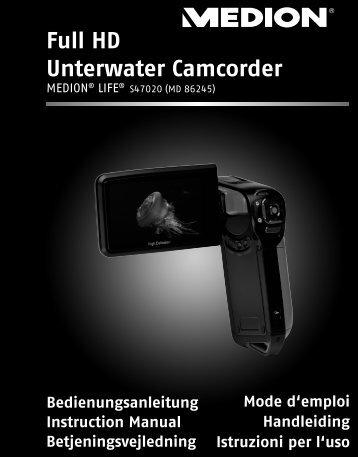 Full HD Unterwater Camcorder - Medion