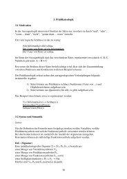 30 3. Prädikatenlogik 3.1 Motivation In der Aussagenlogik ...