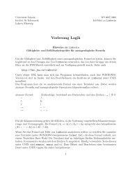 Vorlesung Logik - Institut für Informatik - Universität Leipzig