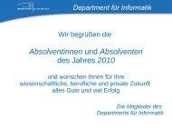 Begrüßung - Department für Informatik