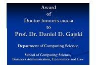 Prof. Dr. Daniel D. Gajski - Department für Informatik