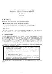 Ein zweites Beispiel-Dokument in LaTeX