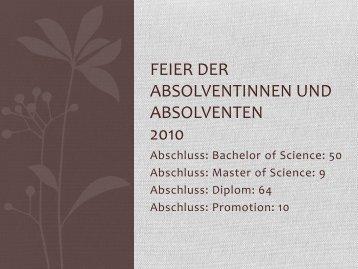Praesentation-Absolv.. - Department für Informatik - Universität ...