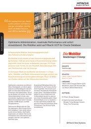 Die Mobiliar setzt auf Hitachi UCP for Oracle Database