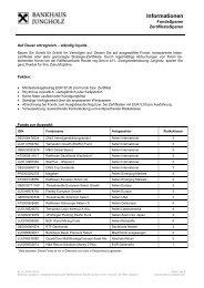Sparplan - Informationen Sparen - Bankhaus Jungholz