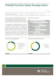 WALSER Portfolio Global Strategie Select 1|3 - Walser Privatbank AG
