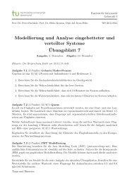 Übungsblatt 7 - Lehrstuhl für praktische Informatik - TU Dortmund