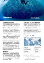 FISCH-RATGEBER - Greenpeace