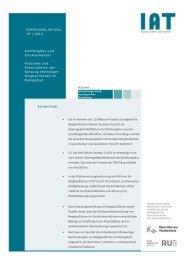Forschung Aktuell2013-07 - beim Institut Arbeit und Technik