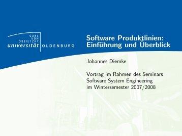 Software Produktlinien: Einführung und Überblick