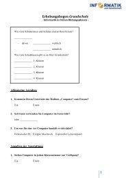 1 Erhebungsbogen Grundschule