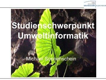 Studienschwerpunkt Umweltinformatik