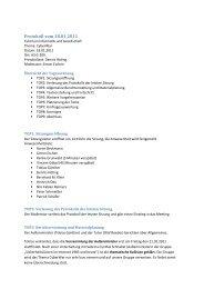 Protokoll vom 18.01.2011