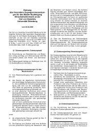 ZulOrd MSc WI - Department für Informatik - Universität Oldenburg