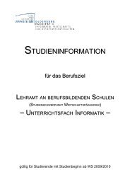 Studienbeginn WS 2009/2010 - Department für Informatik ...