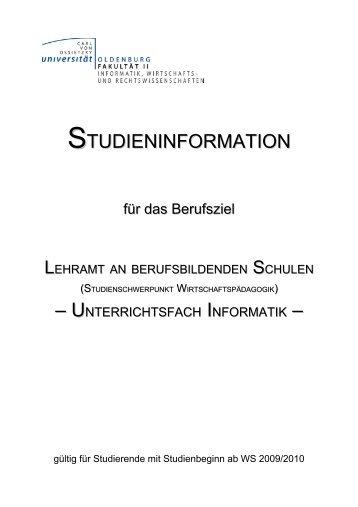 Studienbeginn WS 2009/2010 - Department für Informatik ...