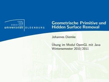 Geometrische Primitive in OpenGL