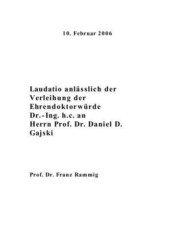 Daniel D - Department für Informatik - Universität Oldenburg