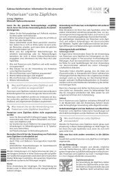 Beipackzettel (PDF) - DR. KADE