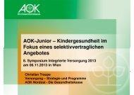 AOK-Junior – Kindergesundheit im Fokus eines ...