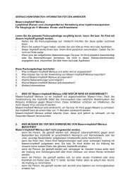 Masern-Impfstoff Mérieux Lyophilisat (Pulver) und ... - DIMDI