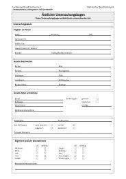 Ärztlicher Untersuchungsbogen