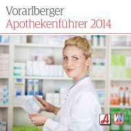 Vorarlberger Apothekenführer 2014 - Österreichische ...