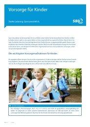Tipps rund um die Vorsorge für Kinder - SBK
