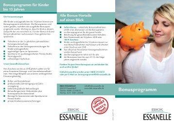 Bonusprogramm 2014 - BKK Essanelle