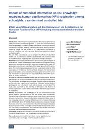 Impact of numerical information on risk knowledge ... - Chemie