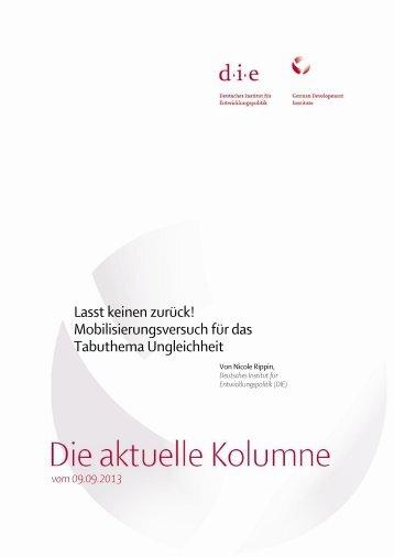 Die aktuelle Kolumne vom 09.09.2013 - Deutsches Institut für ...