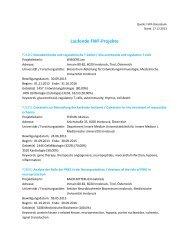 Einzelprojekte - Medizinische Universität Innsbruck