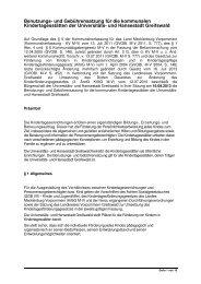 Benutzungs- Gebührensatzung UHGW Kindertagesstätten 1