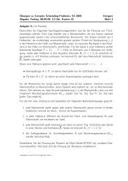 Übungen zu Complex Scheduling Problems, SS 2009 Viergutz ...