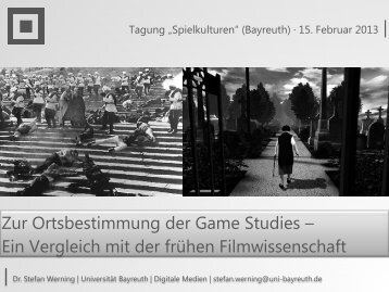 Zur Ortsbestimmung der Game Studies - Medienwissenschaft ...