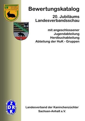 Bewertungskatalog 20. LVSchau Reinschrift - LV Rassekaninchen ...
