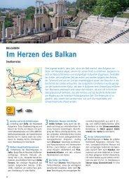 können Sie das Programm dieser Bulgarien ... - Biblische Reisen
