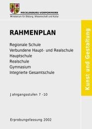 Rahmenplan Kunst und Gestaltung - Bildungsserver Mecklenburg ...