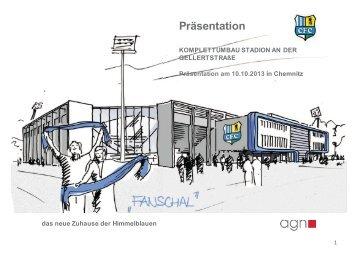 Die Präsentation des künftigen Stadions - Chemnitz