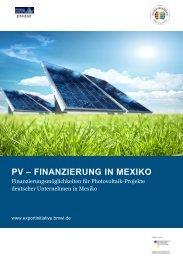 finanzierung in mexiko - Exportinitiative Erneuerbare Energien - BMWi